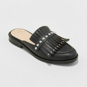 A New Day Black Srudded Mules